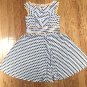 Midi Dress in Cute Stripes